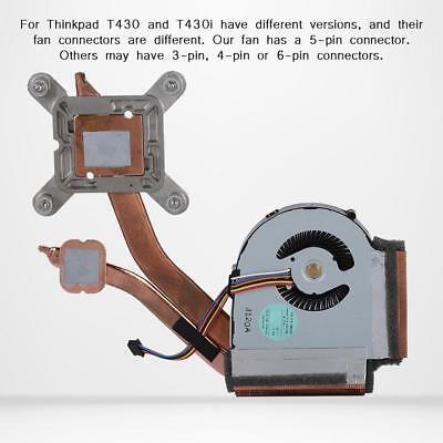 Lenovo 04W3267 5-Pin Laptop Heatsink w//Fan For ThinkPad T430