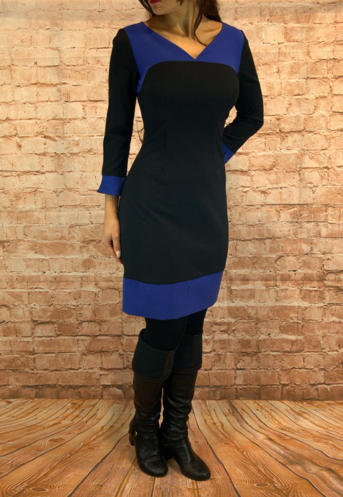 Abendkleid kurz Coctailkleid Herbst Winter Minikleid Kleid 3 4 Arm Gr. 36 38