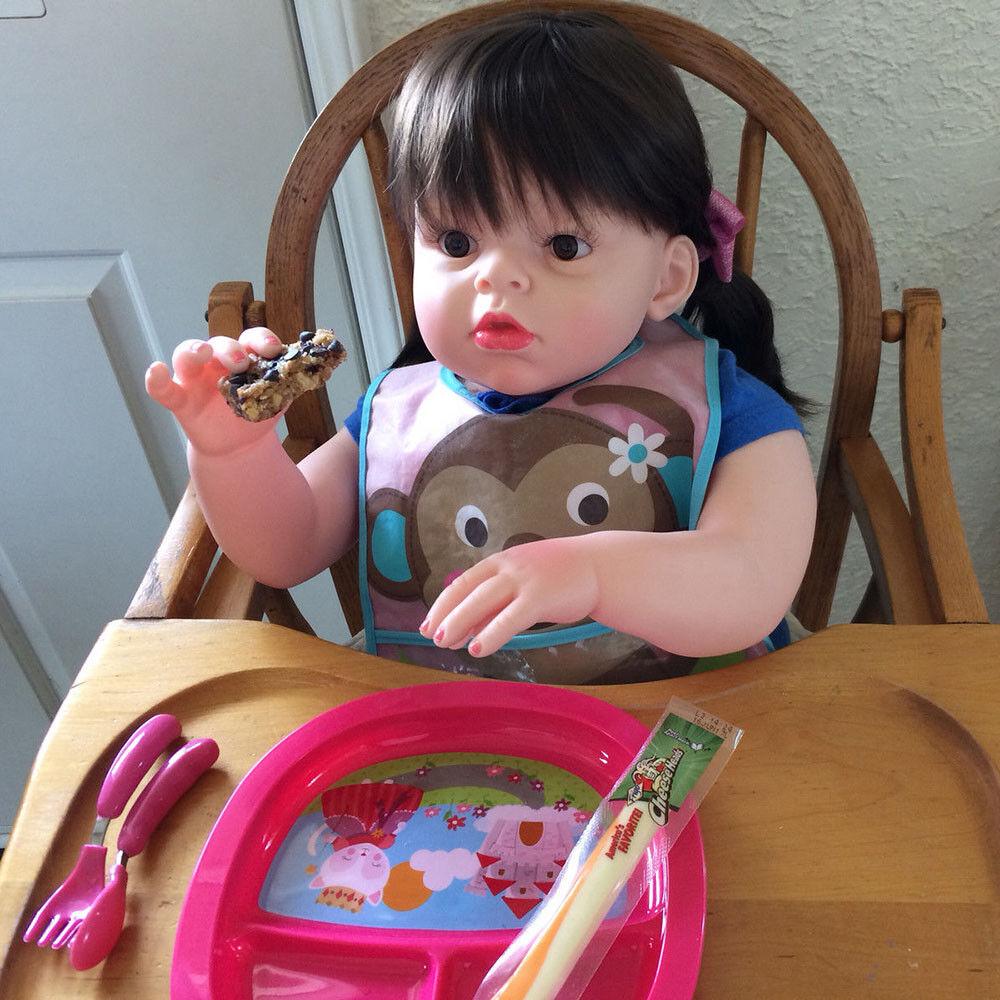 KAWAII 28  Reborn Bambino in Silicone RAGAZZA BIONDA Bambini Wear Modello Bambola Giocattolo