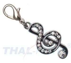 5 stück strassanhänger charm notenschlüssel 41 strass / anhänger für halsband | ebay