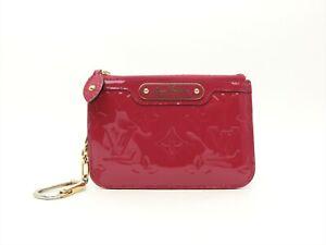 Louis-Vuitton-Authentic-Monogram-VERNIS-Indian-Rose-Key-Chain-Coin-Purse-Wallet