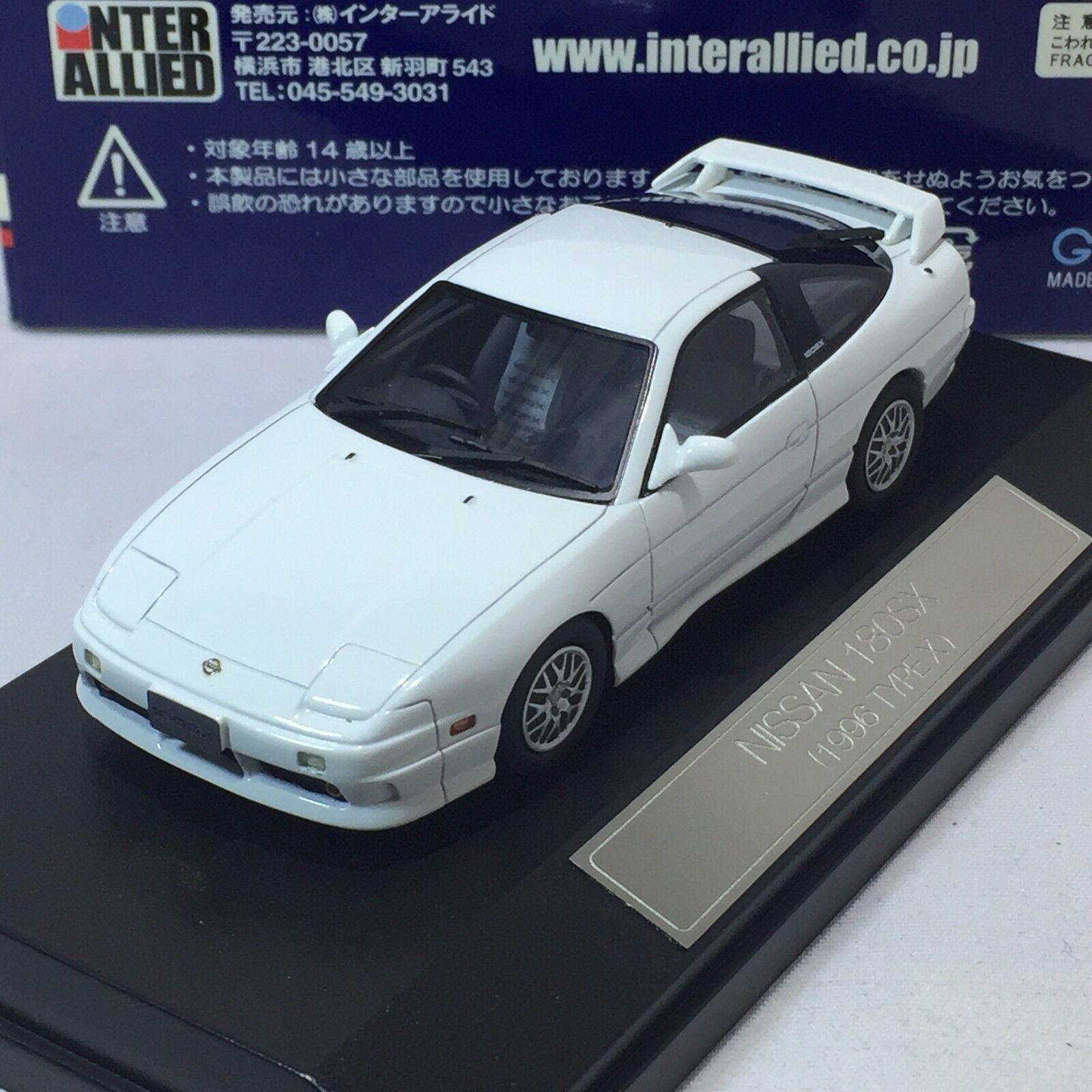 Échelle  1 43 Hi-Story Nissan 180SX S14 1996 type X Mid blanc no. HS017  en ligne au meilleur prix