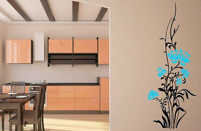 Peaceful refreshing floral design colourful wall stickers window door car vinyl