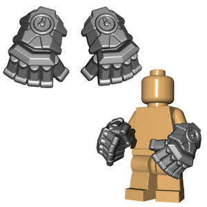 Steampunk Fantasy Custom POWER FISTS Hand Weapon for Lego Minifigures