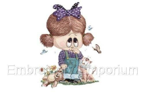 LITTLE MISS IRIS COLLECTION MACHINE EMBROIDERY DESIGNS ON CD OR USB