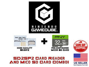 Nintendo GameCube SD2SP2 32 GB MICRO SD Card Adapter Game Cube Serial Port 2
