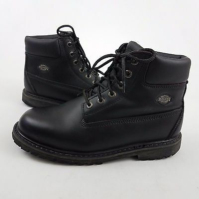 Dickies Composite Toe Oil Resistant Black Work Boot Padded ankle Size US 10 M