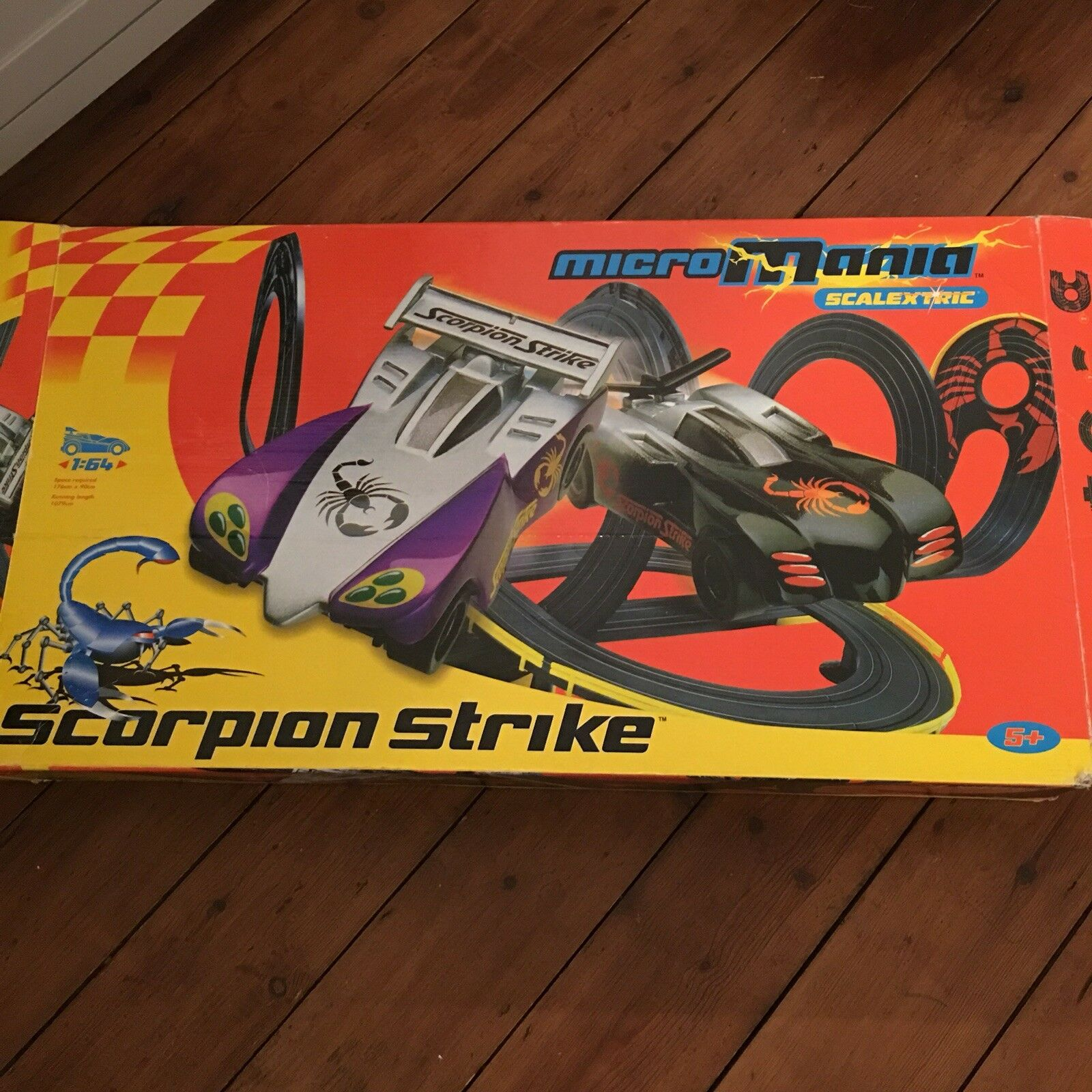 Micro Mania Scalextric Scorpion Strike Set Toy Scalextric Set