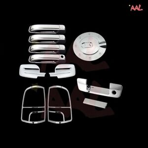 Fit 09-15 Dodge RAM Chrome MIRROR COVER+2 Handle+Tailgate W//CAM+Tail Light