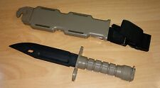 M9 Flexible Rubber traning Fixed Knife with Sheath Airsoft Martial Art # GREY