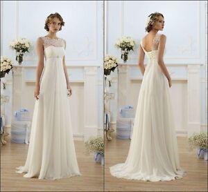 2017-New-White-Ivory-Wedding-Dress-Bridal-Gown-Custom-Size-6-8-10-12-14-16-18