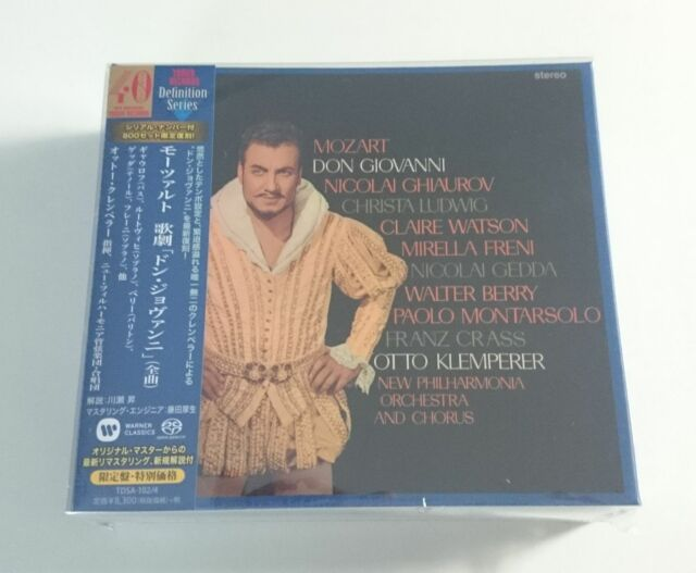 Mozart Don Giovanni Otto Klemperer Japan 3 SACD Box Tower Records NEW/SEALED