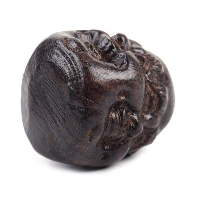 4 Ausdrucks Flächen Hand Geschnitzte Hölze Buddhismus Buddha Kopf Statuen