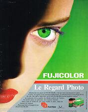 PUBLICITE ADVERTISING 065  1986 FUJI FILM  le FUJICOLOR HR  REGARD PHOTO