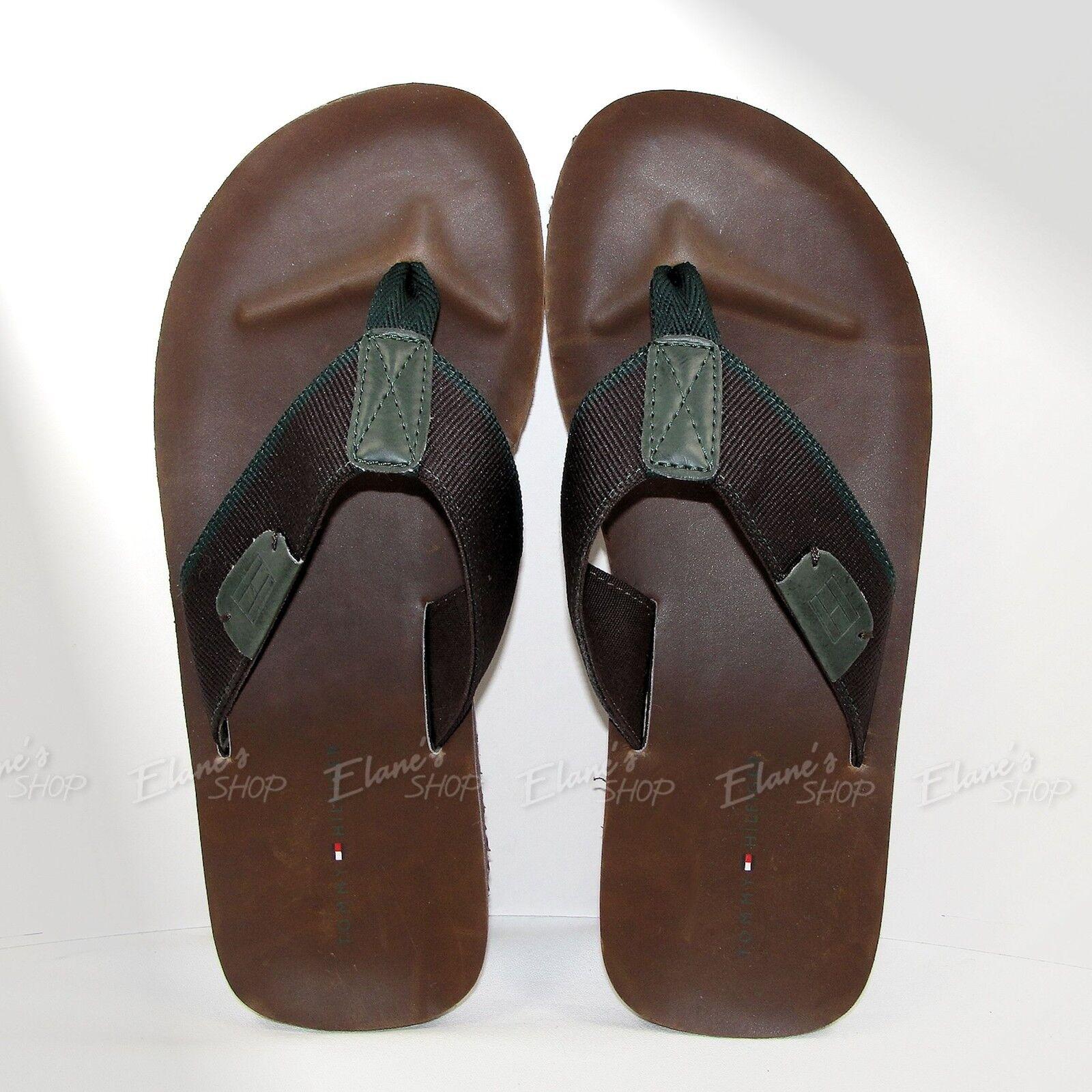 Tommy HILFIGER Flip-flops Brown DAVIS Sandals NWT Pick Size NEW Thong Men's
