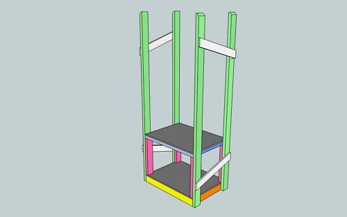 ROLL ABOUT BENCHTOP TOOL STORAGE TOWER PLANS ONLY