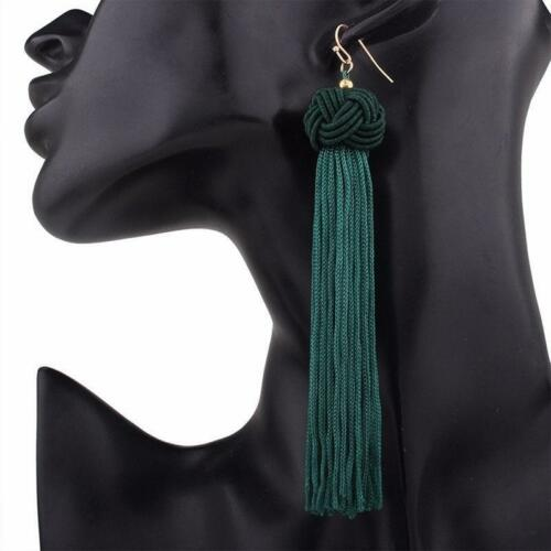 Bohemian Fringe Boho Long Tassel Hook Dangle Earrings For Women LC