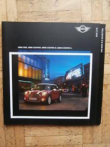 BMW-Mini-One-Cooper-D-S-9-2007-Brochure-Katalog-Prospekt-R56-NEU