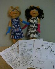 "Fitted A-Line Dress & Glove Pattern 16MP01 For 16"" Tonner Miss Piggy Dolls"
