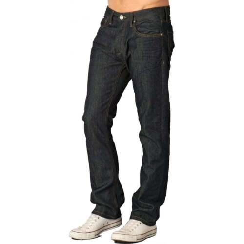 Jack /& Jones Herren Clark Original Gerade Bein Passform Jeans Raw Mid Used BNWT