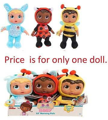 Doc Mcstuffins Toys Plush Baby Check Up Lil Nursery Pal Bumblebee Doll Ladybug