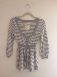 205f1d51109f Hollister Stripe Henley Rabbit Hair Winter Babydoll Sweater