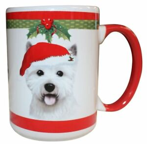 Westie Christmas Coffee Mug 15 oz E&S Pets Dog Puppy Tea Cup Holiday Gift
