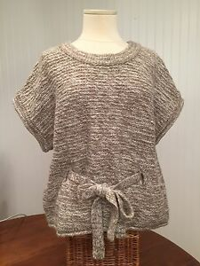 Super Cute If It Were Me Sweater Anthrpologie Tan Belted Sweater Size L