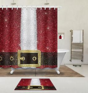 Image Is Loading Santa Claus S Belt Custom Bathroom Waterproof Fabric