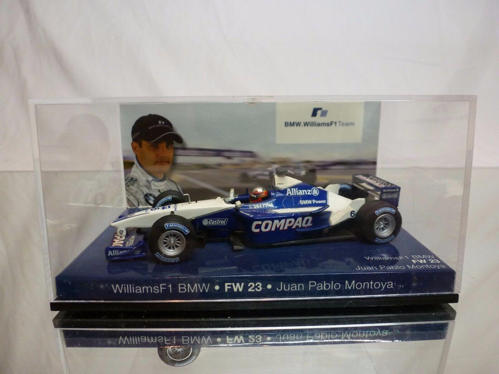 MINICHAMPS MINICHAMPS MINICHAMPS WILLIAMS FW23 BMW - COMPAQ No 6 - MONTOYA - F1 1 43 - GOOD IN BOX 4dfeed