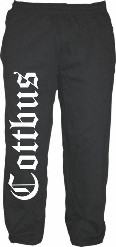 Cottbus Jogging Pantaloni-tedesco Antico-nero-jogger Pantaloni Sweatpants Chosebuz