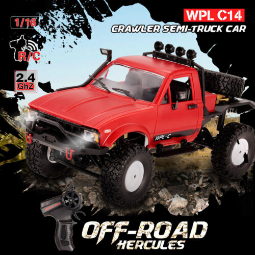 WPL C14 1//16 2.4GHz 4WD RC Crawler Off-road Semi-truck Car RTR W//Headlight M2L0