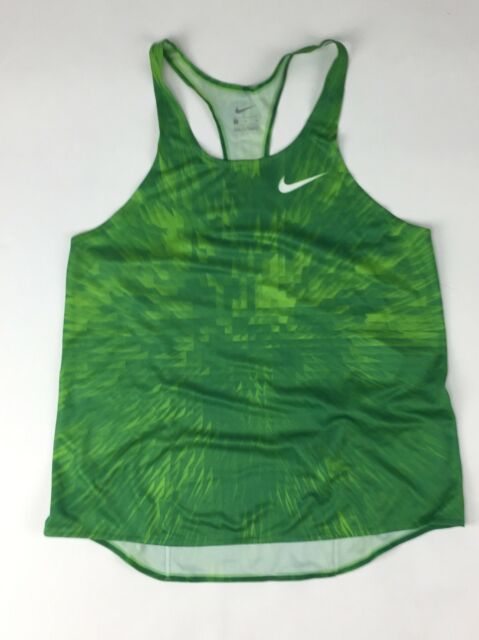 96ac3f97b0b0 New Nike Digital Race Day Elite Running Singlet Track Women s M Green  835974  65