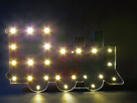 Lionel Train Marqee Light Train Room Sign Lighted Battery Operated 9-42043