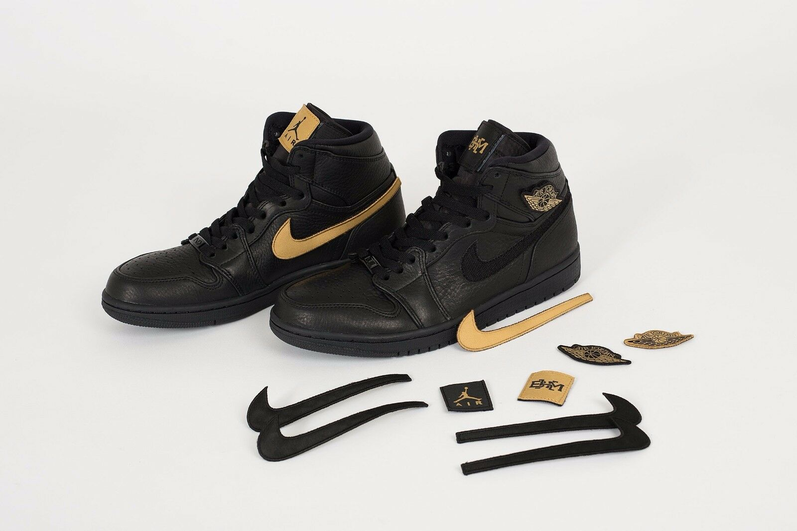 2017 Nike Jordan Air Jordan Nike 1 Retro High BHM Black Gold Size 9. 908656-001 og all star 3741f8