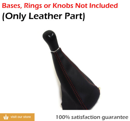 Manual Shift Boot Real Leather for Honda Civic 98-02 Red Stitch