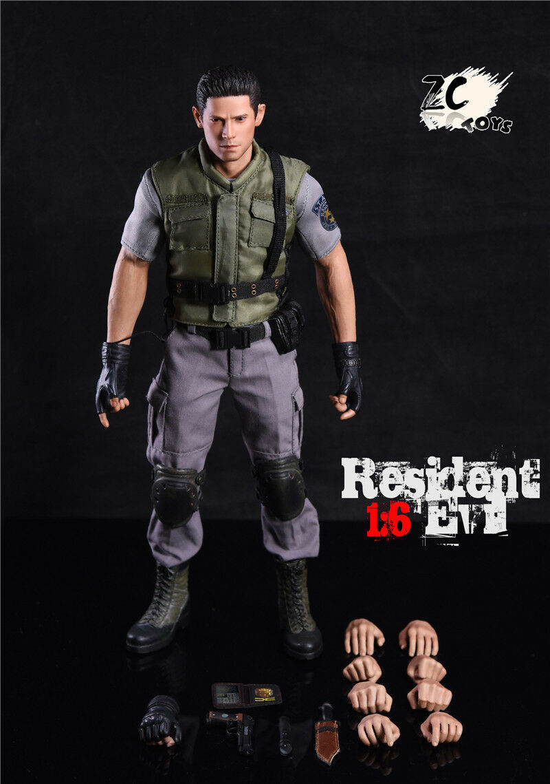 1/6 Scale Chris rossofield Resident Evil  Zombie Police Officer Biohazard Wesker