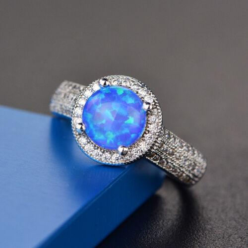 Women Ring Mystical Fire Opal 925 Sterling Silver Rings Size 5 6 7 8 9 10 11