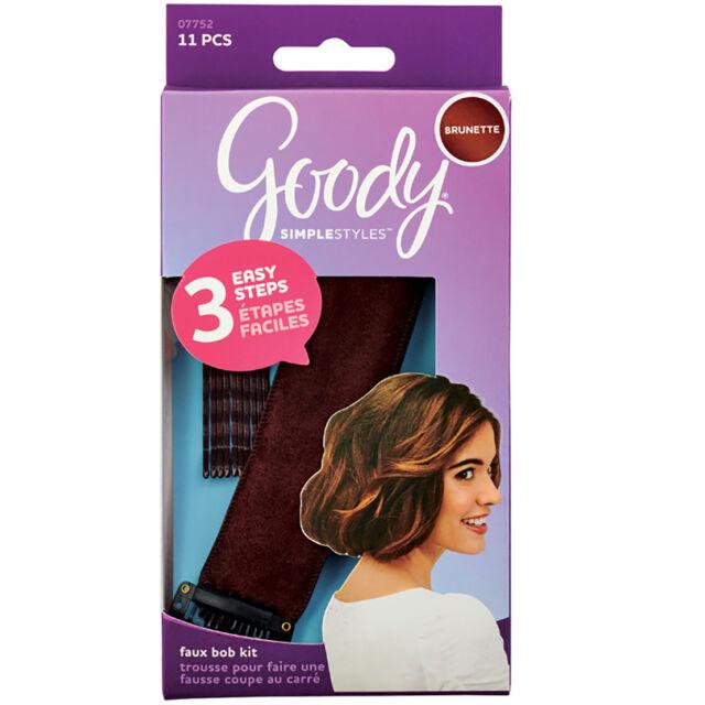 Goody Simple Styles Dark Brunette Hair Faux Bob Kit 3 Easy Steps 10