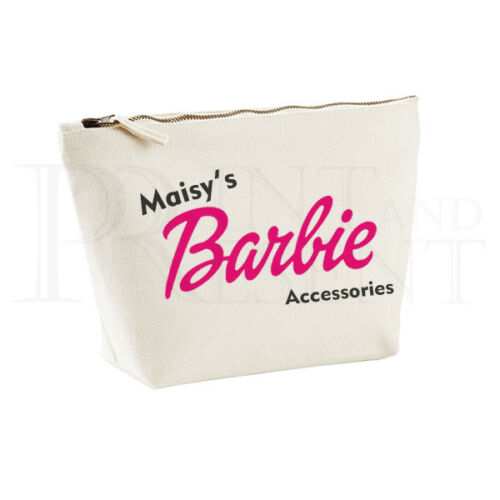 Personnalisé Barbie Accessoires étui Rangement Sac-medium 19 cm x 18 cm x 9 cm
