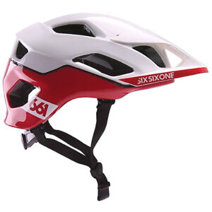 661-SIXSIXONE-EVO-AM-PATROL-MTB-MOUNTAIN-BIKE-CYCLING-HELMET-WHITE-RED