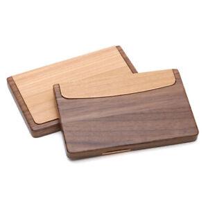 Visitenkartenetui-Etui-Holz-Visitenkartenhalter-Desktop-Visitenkartenbox