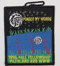 OA Lodge 229 Pilthlako eX1996-2 Patch; Fall Fellowship [R636]