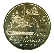 SLOWAKEI - 10 Euro 2010 - HOLZKIRCHEN - SILBER - vergoldet (8675/196)