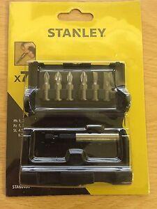 stanley 6pcs screwdriver bit set ebay. Black Bedroom Furniture Sets. Home Design Ideas