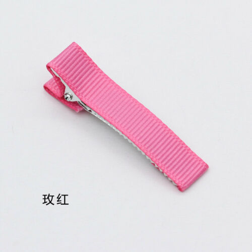 50mm Girls Baby Kid Ribbon Covered Lined Alligator Hair Clips For Bows craft DIY