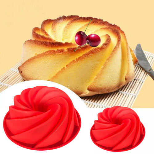 Swirl Silicone Butter Cake Pan Mold Baking Form Bakery Spiral Pumpkin Mould DIY
