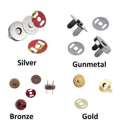 14mm-100 100 Sets Silver Tone Magnetic Purse Snap Clasps// Closure Purse Handbag 14mm