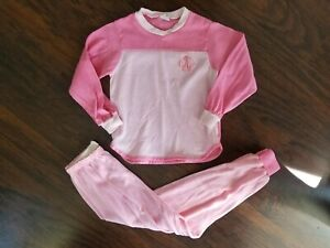 Vintage-80-039-s-Girls-Size-6-Carters-2pc-Pajamas-Pink-Ballet-Slippers