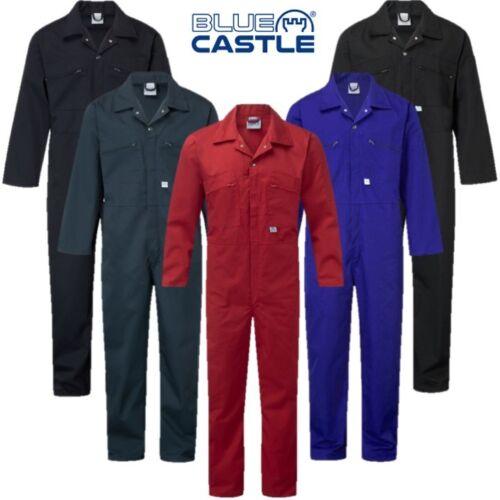 "BLUE CASTLE ZIP FRONT COVERALLS MENS 34-60/"" CHEST WORKWEAR OVERALLS BOILERSUIT"